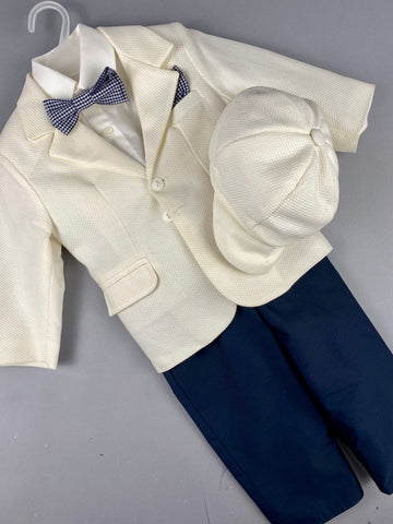 Rosies Collections 6pc full suit, Dress shirt with cuff sleeves, Pants, Jacket, Belt or Suspenders, Cap. Made in Greece exclusively for Rosies Collections