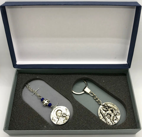 1 Gift Box Set Xristoforis Panagia Keychain and Hanging Pendant
