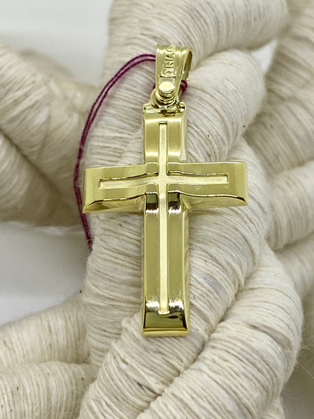 Triantos Yellow Gold Cross 39