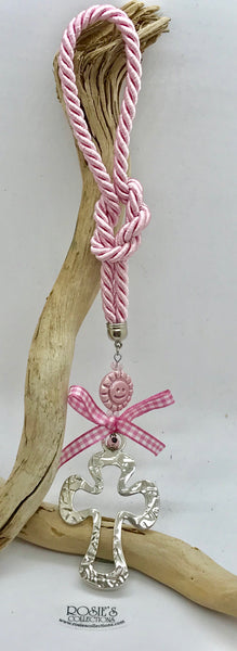 Gouri 2 Pink Rope with Cross and Mataki