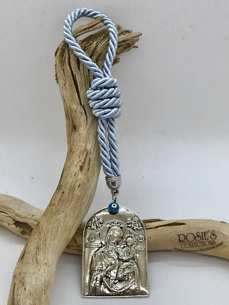 Gouri 19 Baby Blue Rope With Panagia Icon