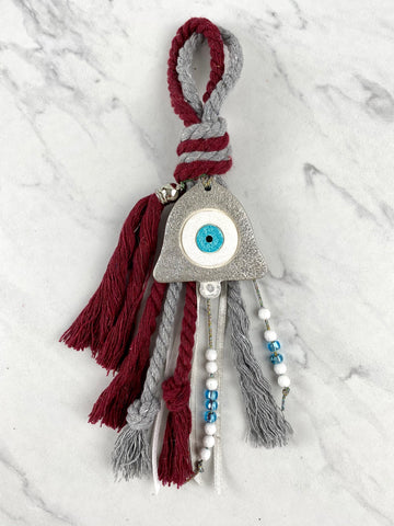 Ceramic Mati Bell Double Cord Gouri with Glass beads and charm