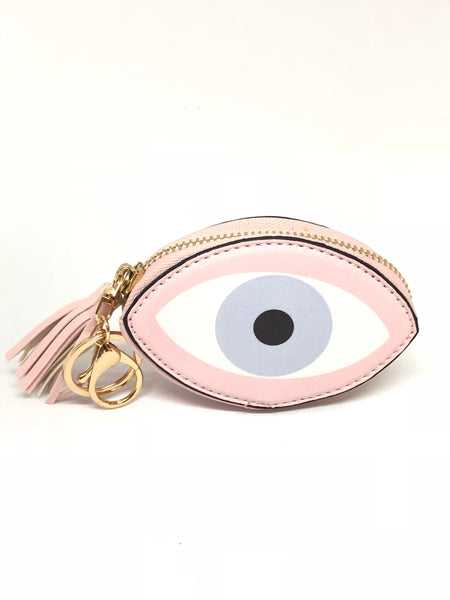 Mati Zipper Pouch Keychain with Tassel