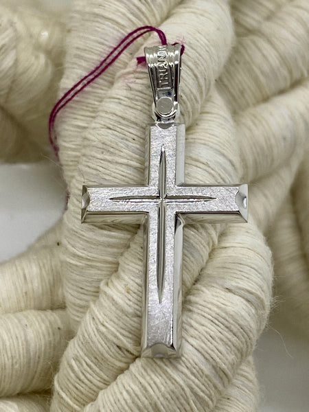 Triantos White Gold Cross 45