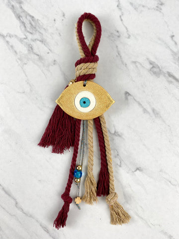 Ceramic Gold Mati Double Cord Gouri with glass beads