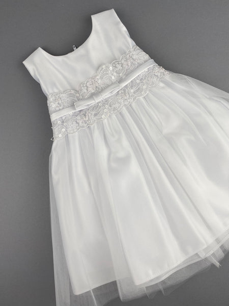 Girls Christening Baptismal Dress 50 with Pearls
