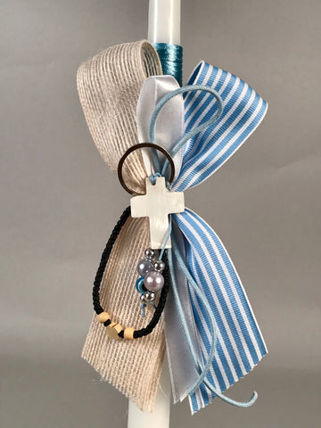 Seashell Cross Keychain with Koboskini
