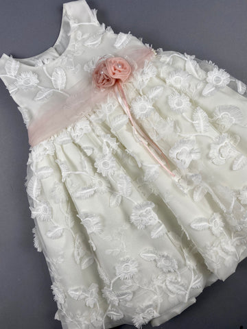 Dress 22 Girls Baptismal Christening Sleeveless  3pc Dress, with matching Bolero and Hat. Made in Greece exclusively for Rosies Collections.
