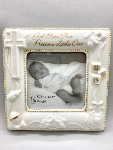 God Bless this Precious One Porcelain Picture Frame