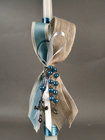 Pearl Blue Rosary
