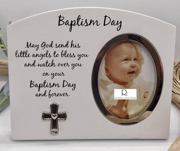 Baptism Day Wooden Picture Frame