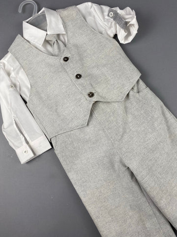 Rosies Collections 7pc full suit, Trimmed Dress shirt With Cuff sleeves, Pants, Jacket, Vest, Belt or Suspenders, Cap. Made in Greece exclusively for Rosies Collections
