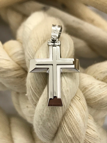 Triantos White Gold Cross 4