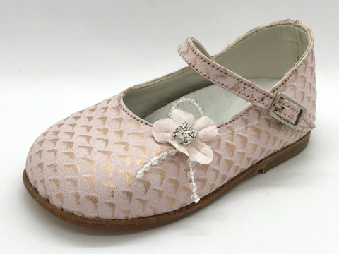 Babywalker Rose Croc Leather Shoe