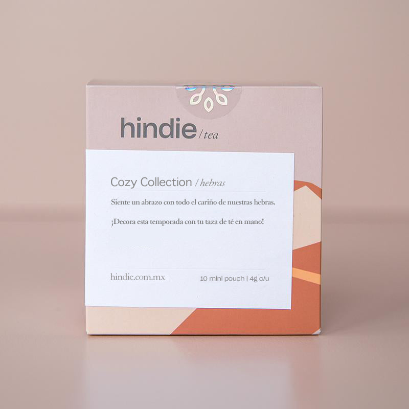 Cajita con muestra de té en hebras I Hindie tea Sampler Cozy Collection