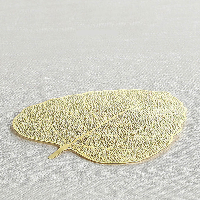 Colador Golden Leaf - Hoja de Acero Inoxidable
