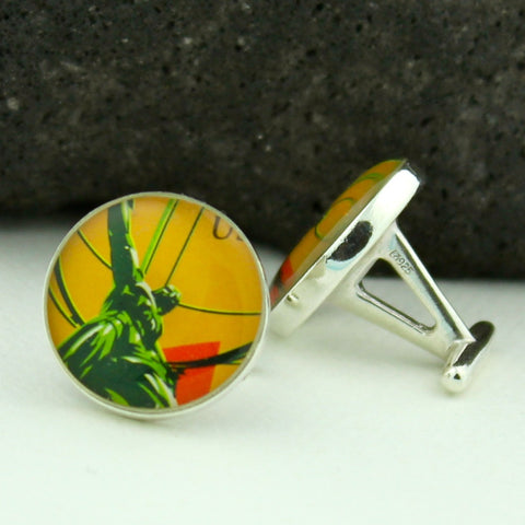 Atlas Sterling Silver Cufflinks (Cuff Links)