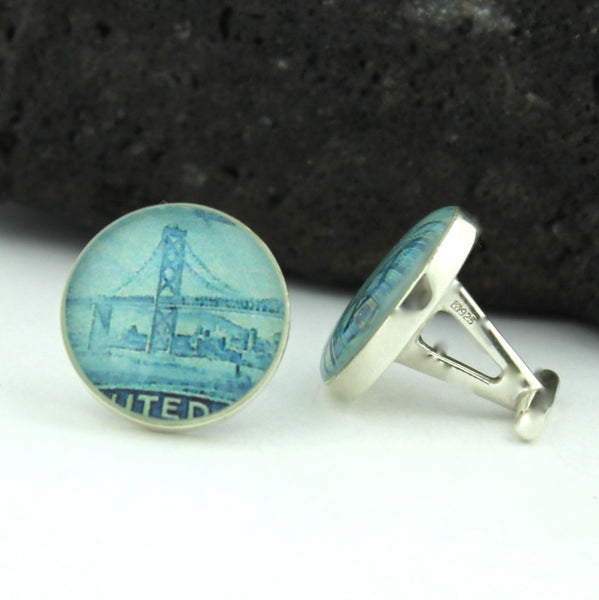 San Francisco Golden Gate Sterling Silver Cufflinks