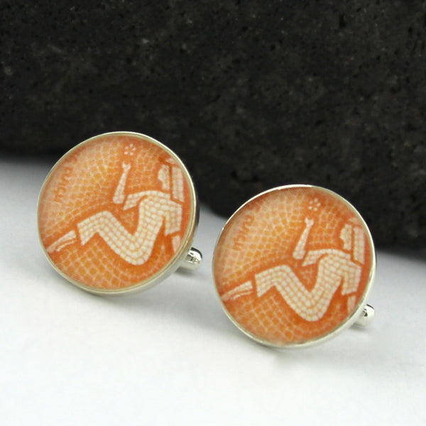 Sterling Silver Virgo Cufflinks (Zodiac Cuff Links)