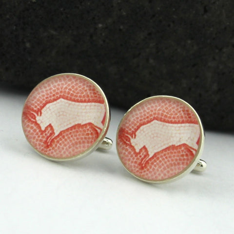 Sterling Silver Bull Cufflinks (Taurus Zodiac Cuff Links)