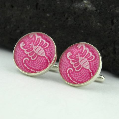 Scorpio Cufflinks - Sterling Silver Zodiac Cuff Links