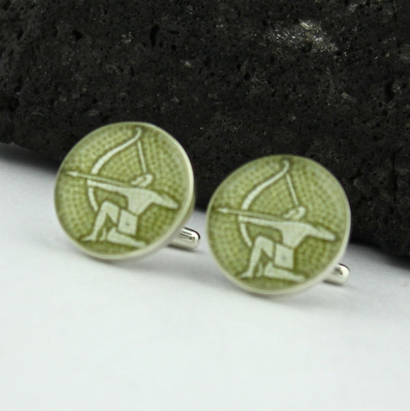 Sagittarius Sterling Silver Cufflinks (Zodiac Cuff Links)
