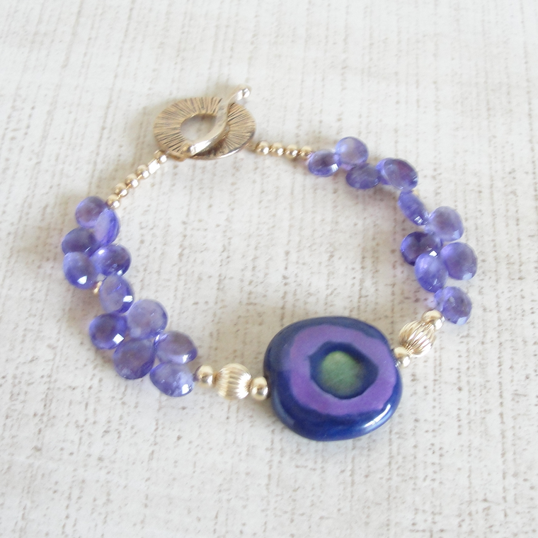Amethyst & Gold Aspirations Bracelet ~ Limited Edition