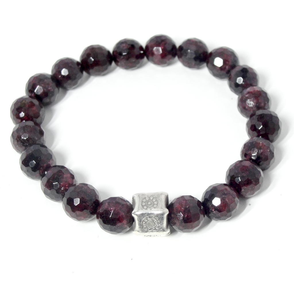 GARNET & HILL TRIBE SILVER STRETCH BRACELET