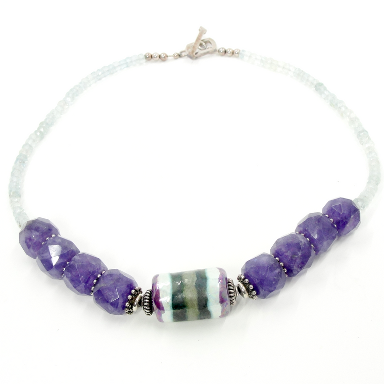 Amethyst & Aquamarine Statement