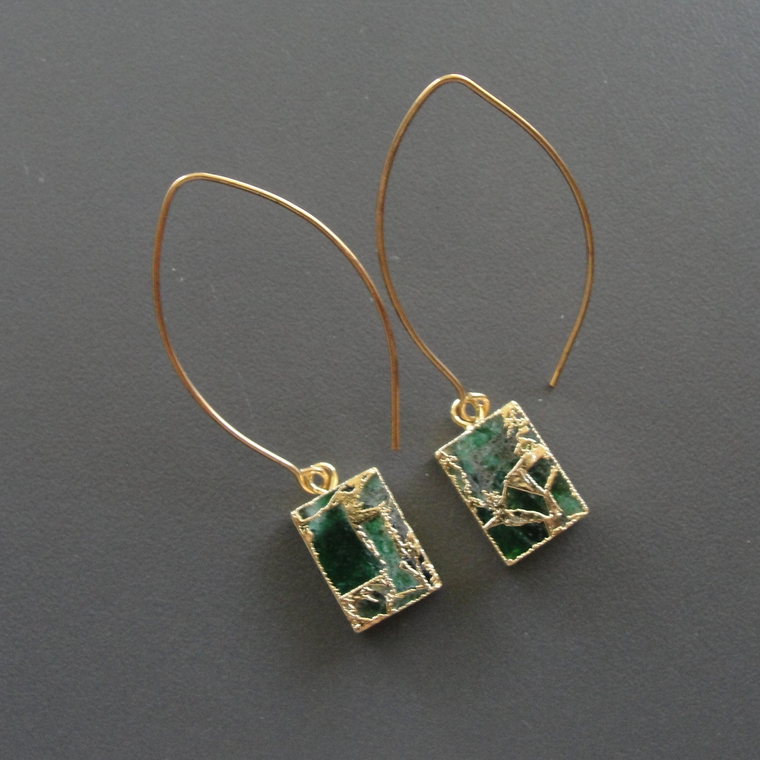 Petite Mosaic Rectangle Earrings