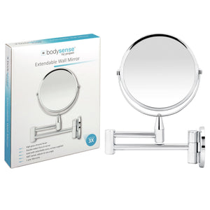 BODYSENSE EXTENDABLE WALL MIRROR - 3X MAGNIFICATION