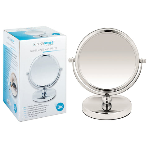 BODYSENSE LOW ROUND SALON MIRROR - 10X MAGNIFICATION