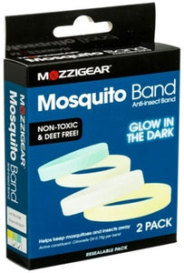 Mosquito Anti-Insect Band 2 Pack Glow In The Dark Adult Size