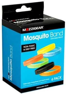 Mosquito Anti-Insect Band 6 Pack Plain Adult Size