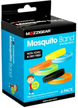 Mosquito Anti-Insect Band 6 Pack Plain Kids Size