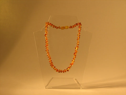 "Baby Necklace 14/15"" - Light Cognac"