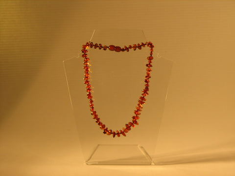 "Baby Necklace 14/15"" - Dark Cognac"