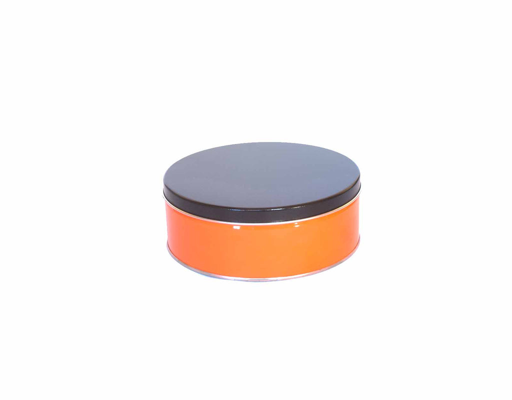 Black And Orange Nut Tin