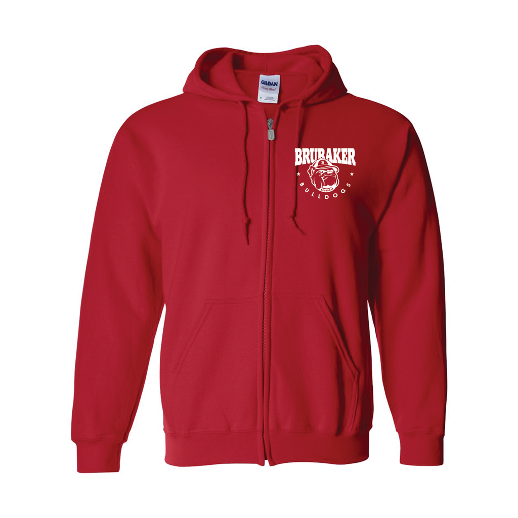 BRUBAKER - Adult Full Zip Hoodie - 3 Colors