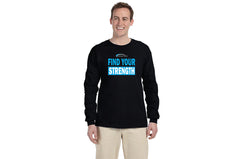 CRATOS - Find Your Strength - Black 100% Cotton Long Sleeve Shirt