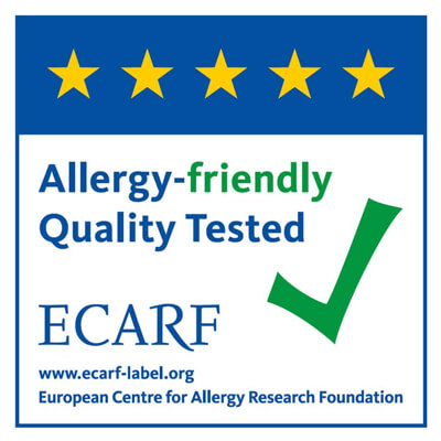 Sirena is ECARF certified by European Centre for Allergy Research Foundation