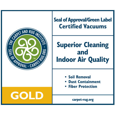 Sirena has a GOLD Seal of Approval/Green Label from The Carpet and Rug Institute