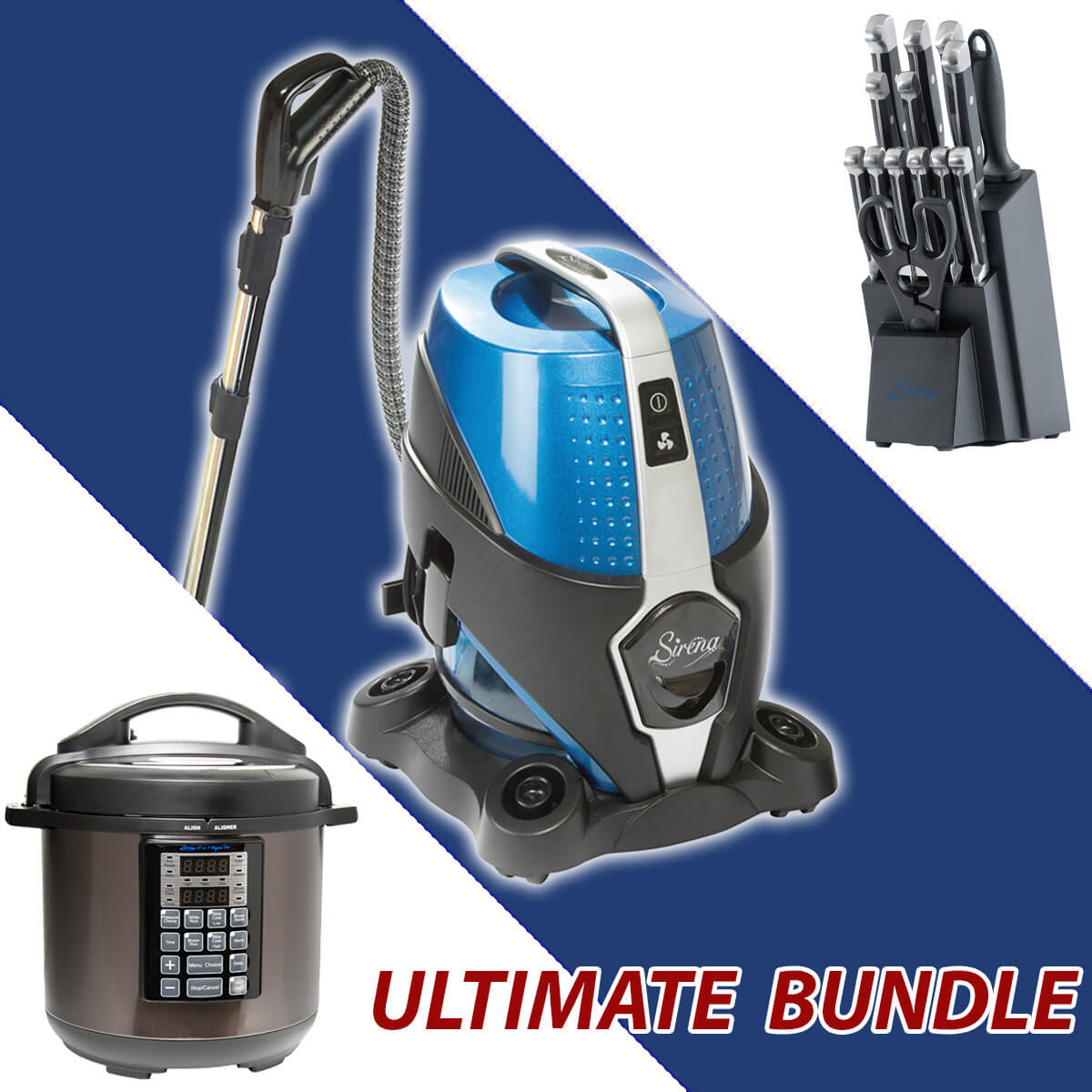Sirena Ultimate Bundle - Sirena Vacuum Cleaner + Sirena Elite Set + Sirena Rapid Pot