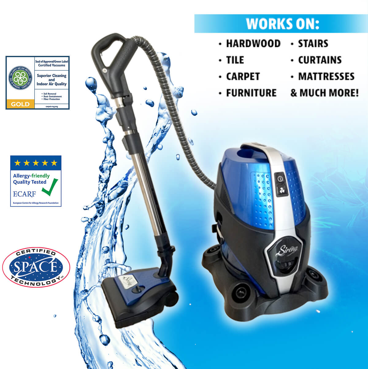 Sirena Vacuum Cleaner (Recertified)