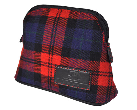 Classics - Tartan - MakeUp Bag / Dopp Kit - Red-Blue-Black