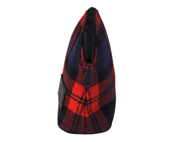 MakeUp Bag / Dopp Kit - Tartan Red-Blue-Black