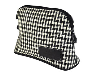 MakeUp Bag / Dopp Kit - Houndstooth 'R' (modern) or Pepita (vintage)