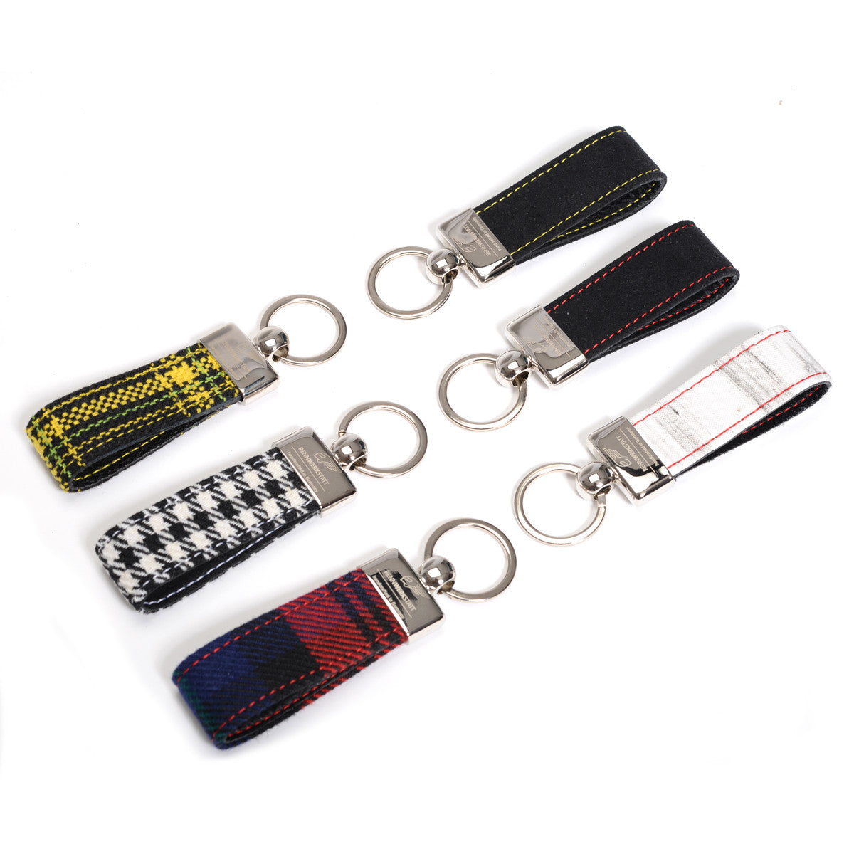 KeyRing - Tartan Red-Blue-Black
