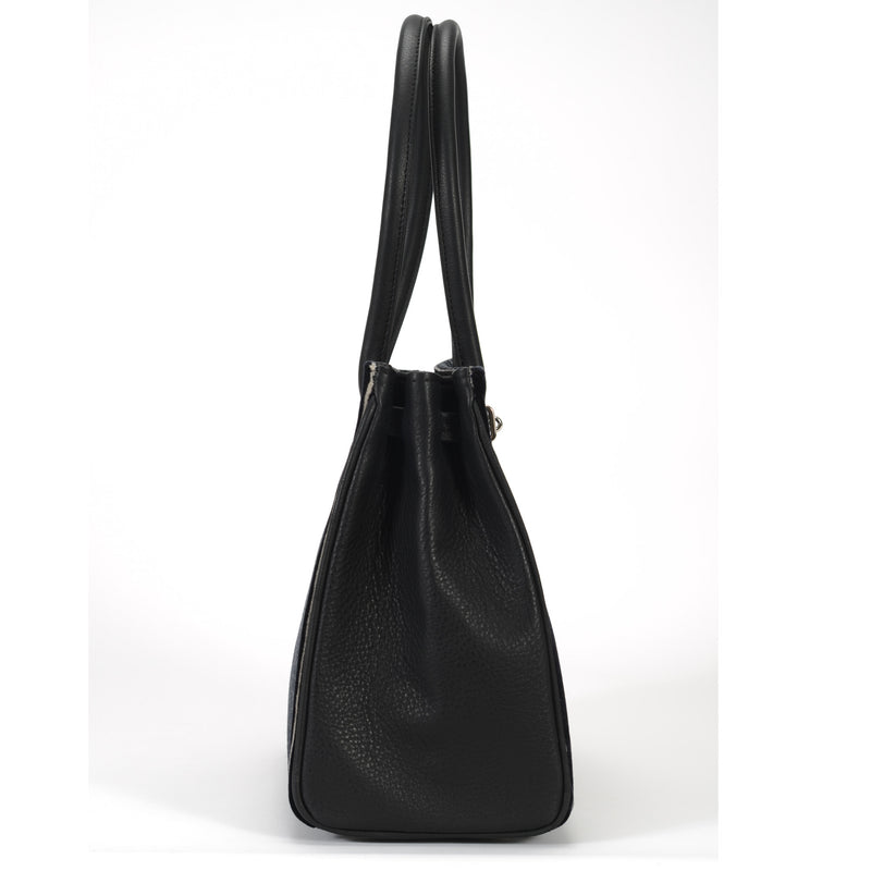OceanDrive / Ladies Handbag - Pinstripe Black
