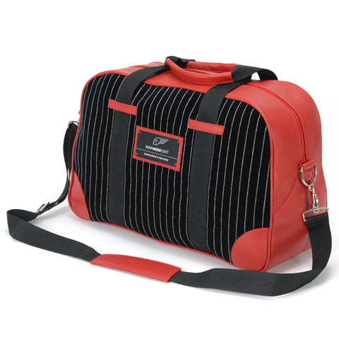 Classics - Pinstripe - SpeedWeek Bag - Black-Red